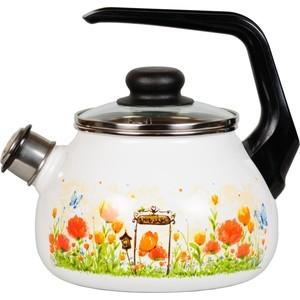 Чайник эмалированный со свистком 2.0 л СтальЭмаль Голландский (4с210я)