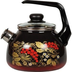Чайник эмалированный со свистком 2.0 л СтальЭмаль Рябина (4с210я)