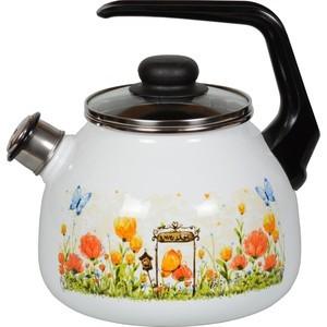 Чайник эмалированный со свистком 3.0 л СтальЭмаль Голландский (4с209я)