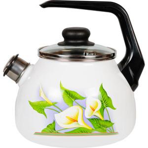 Чайник эмалированный 2.0 л СтальЭмаль Каллы (4с210я)