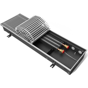 Внутрипольный водяной конвектор Techno без решетки (KVZ 200-85-1800) внутрипольный конвектор techno usual kvz 420 105 4600 без решетки