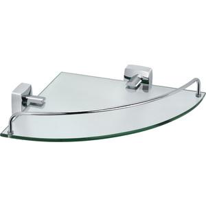 Полка стеклянная Fixsen Kvadro угловая 25x35x5 (FX-61303A)