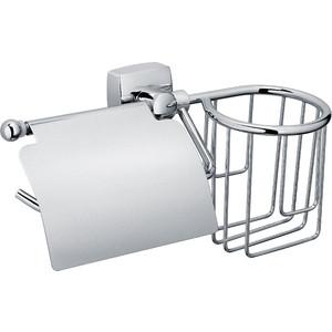 Держатель туалетной бумаги и освежителя Fixsen Kvadro с крышкой, хром (FX-61309+10)
