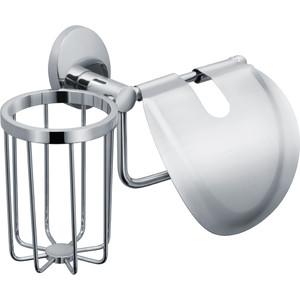 Держатель туалетной бумаги и освежителя Fixsen Europa с крышкой, хром (FX-21809+10)