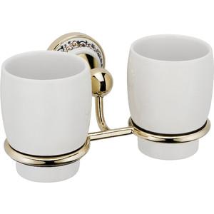 Стакан для ванны Fixsen Bogema Gold двойной (FX-78507G) стакан для зубных щеток fixsen bogema gold fx 78506g золото белый