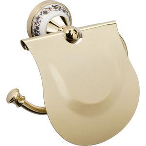 Держатель туалетной бумаги Fixsen Bogema Gold с крышкой (FX-78510G) цены