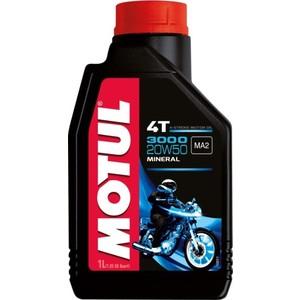 Моторное масло MOTUL 3000 4T 20W-50 1 л моторное масло motul 5100 4t 10w 50 1 л