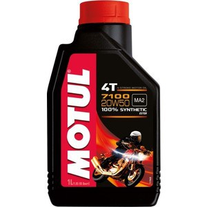 Моторное масло MOTUL 7100 4T 20W-50 1 л моторное масло motul 7100 4t 10w 50 4 л