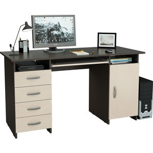 Стол письменный Мастер Милан-7П венге-дуб молочный МСТ-СДМ-7П-ВД-16 стол письменный мастер милан 7 венге дуб молочный