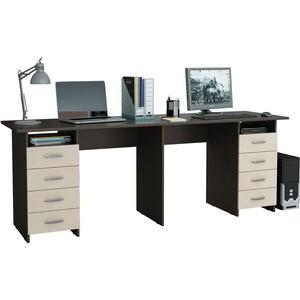Стол письменный Мастер Тандем-3 венге-дуб молочный стол письменный мастер милан 7 венге дуб молочный