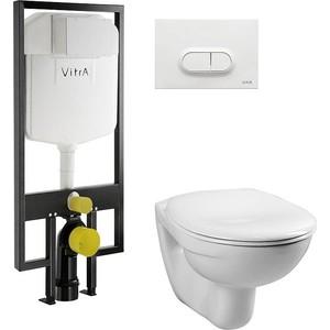 Комплект Vitra Normus унитаз с сиденьем + инсталляция кнопка белая (9773B003-7201)