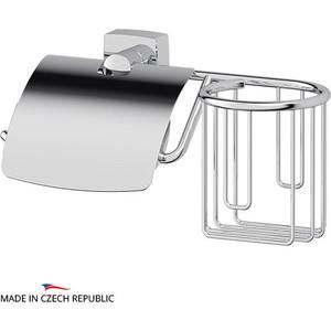 Держатель туалетной бумаги и освежителя FBS Esperado с крышкой, хром (ESP 053)