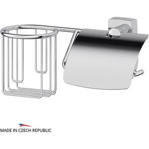 Держатель туалетной бумаги и освежителя FBS Esperado с крышкой, хром (ESP 054)