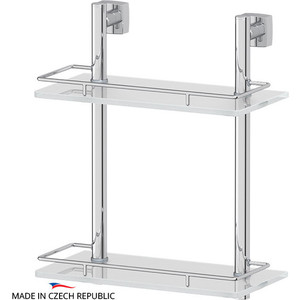 цена на Полка стеклянная FBS Esperado 2-х ярусная 30 см, хром (ESP 062)