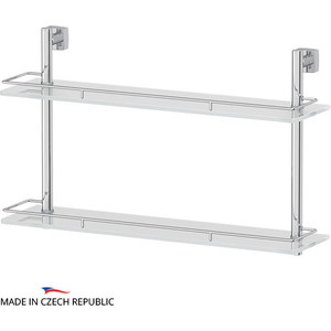 Полка стеклянная FBS Esperado 2-х ярусная 60 см, хром (ESP 065)