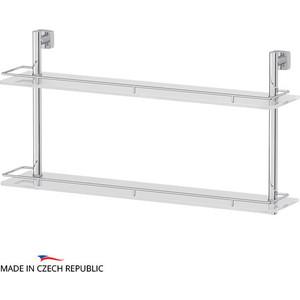Полка стеклянная FBS Esperado 2-х ярусная 70 см, хром (ESP 066) стол складной outwell rupert table 70 х 116 х 70 см