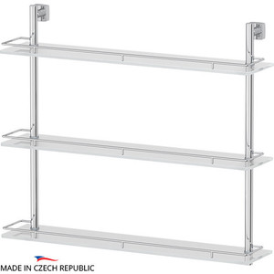 цена на Полка стеклянная FBS Esperado 3-х ярусная 70 см, хром (ESP 071)