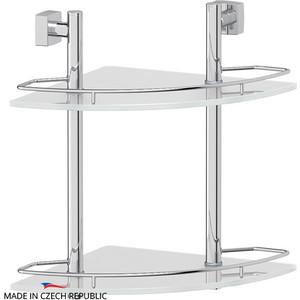 цена на Полка стеклянная FBS Esperado 2-х ярусная угловая 28 см, хром (ESP 072)