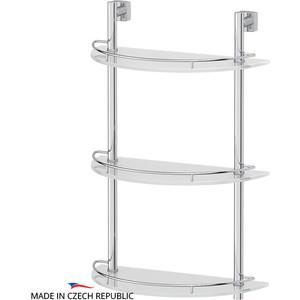 Полка стеклянная FBS Esperado 3-х ярусная 40 см, хром (ESP 082)