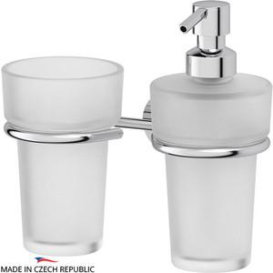 Дозатор для жидкого мыла FBS Vizovice хром (VIZ 008) со стаканом дозатор жидкого мыла fbs vizovice viz 011