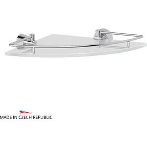 Полка стеклянная FBS Vizovice угловая 28 см, хром (VIZ 012)