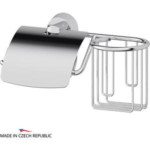 Держатель туалетной бумаги и освежителя FBS Vizovice с крышкой, хром (VIZ 053)