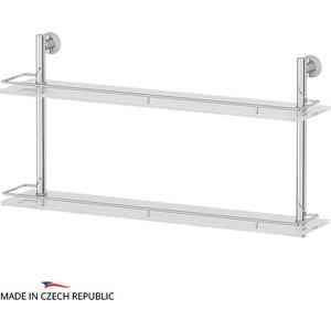 Полка стеклянная FBS Vizovice 2-х ярусная 70 см, хром (VIZ 066)