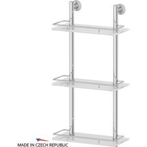 Полка стеклянная FBS Vizovice 3-х ярусная 30 см, хром (VIZ 067)