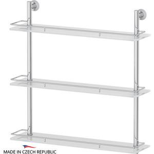 Полка стеклянная FBS Vizovice 3-х ярусная 60 см, хром (VIZ 070)