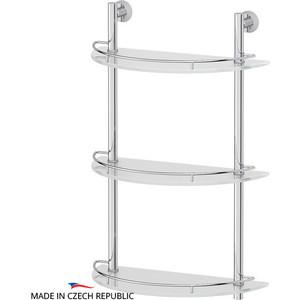 Полка стеклянная FBS Vizovice 3-х ярусная 40 см, хром (VIZ 082)