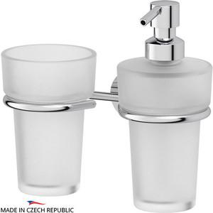 Дозатор для жидкого мыла FBS Nostalgy хром (NOS 008) со стаканом