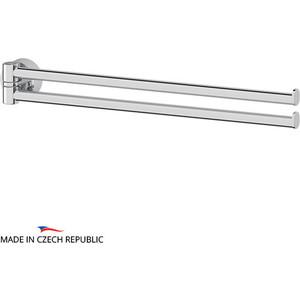 Полотенцедержатель поворотный FBS Nostalgy двойной 37 см, хром (NOS 044) полотенцедержатель двойной поворотный 37 см raiber r70126