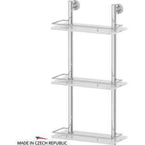 Полка стеклянная FBS Nostalgy 3-х ярусная 30 см, хром (NOS 067) цена