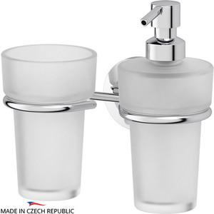 Дозатор для жидкого мыла FBS Standard хром (STA 008) со стаканом