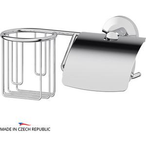 Держатель туалетной бумаги и освежителя FBS Standard с крышкой, хром (STA 054)