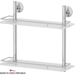 Полка стеклянная FBS Standard 2-х ярусная 40 см, хром (STA 063)