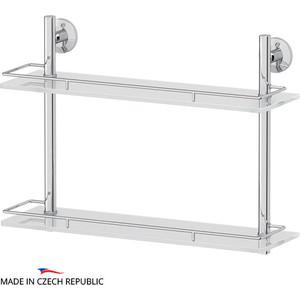 Полка стеклянная FBS Standard 2-х ярусная 50 см, хром (STA 064)