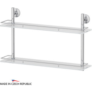 Полка стеклянная FBS Standard 2-х ярусная 60 см, хром (STA 065)