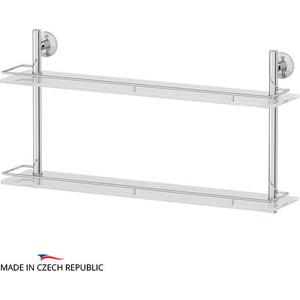 Полка стеклянная FBS Standard 2-х ярусная 70 см, хром (STA 066)