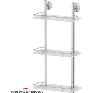 где купить Полка стеклянная FBS Standard 3-х ярусная 30 см, хром (STA 067) дешево