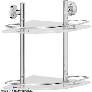 Полка стеклянная FBS Standard 2-х ярусная угловая 28 см, хром (STA 072)