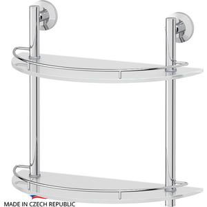 Полка стеклянная FBS Standard 2-х ярусная 40 см, хром (STA 081)