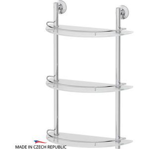 Полка стеклянная FBS Standard 3-х ярусная 40 см, хром (STA 082)