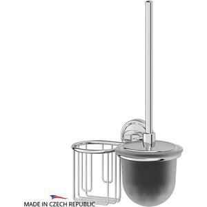 Ершик для унитаза FBS Ellea с держателем освежителя, хром (ELL 058)