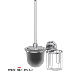 Ершик для унитаза FBS Ellea с держателем освежителя, хром (ELL 059)