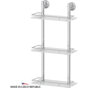 Полка стеклянная FBS Ellea 3-х ярусная 30 см, хром (ELL 067)