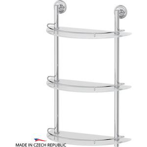 Полка стеклянная FBS Ellea 3-х ярусная 40 см, хром (ELL 082)