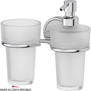 Дозатор для жидкого мыла FBS Luxia хром (LUX 008) со стаканом