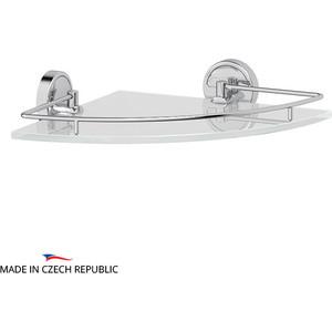 Полка стеклянная FBS Luxia угловая 28 см, хром (LUX 012)