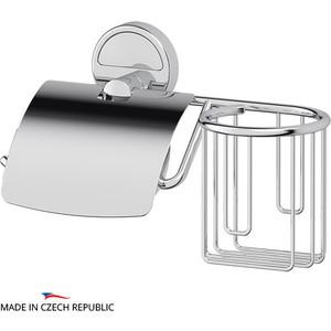 Держатель туалетной бумаги и освежителя FBS Luxia с крышкой, хром (LUX 053)